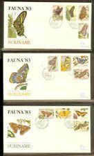 [LN001] 1983 - Rep. Surinam FDC E073ABC - Fauna & Animals - Insects & Spiders -