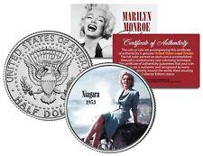Marilyn Monroe NIAGARA 1953 Movie JFK Kennedy Half Dollar Licensed U.S. Coin
