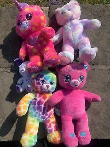 Bundle Of Official Build A Bear Workshop Teddy Bears Shopkins Unicorn Rainbow x5