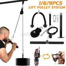 9pcs Gym Equipment Cable Tricep Bicep Machine Pulley System Fitness Workout Lift
