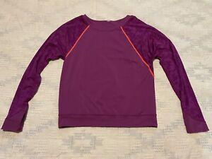 Lululemon Athletic Top Long Sleeves Pink Thumbholes Women's Size 6