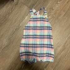 JANIE AND JACK baby infant boys blue/pink/green one-piece Romper 6-12 months