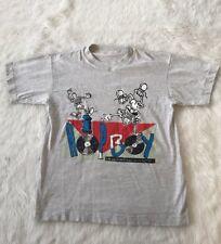 1985 Vintage Kids Fido Dido Hip Boy Grey Graphic Shirt Size 10