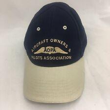 Aircraft Owners & Pilots Association Hat Blue Beige Baseball Cap