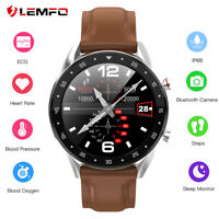 Lemfo L7 smart watch monitor heart rate blood pressure camera for Android iOS