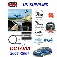 For SKODA OCTAVIA Bluetooth Handsfree Phone AUX Input MP3 USB Charger Module 8pn