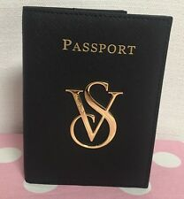 NWT VICTORIA'S SECRET BLACK PASSPORT and Boarding Pass Holder