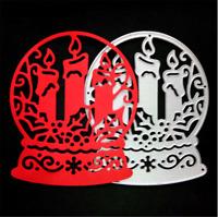 Stanzschablone Glaskugel Okkultismus Kerzen Weihnachten Neujahr Karte Album DIY