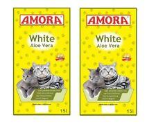 Amora Katzenstreu White Compact Aloe Vera 2 x 15 Liter