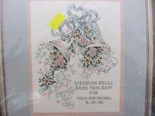 Janlynn WEDDING BELLS Cross Stitch Pattern Kit w/Fabric & Thread NEW
