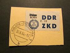 DDR ZKD C 53 KMS auf Pdm 2/11 Briefstück echt gestempelt Limbach-Oberfrohna gepr