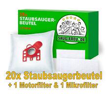 SAUG-FREUnDE 20 Staubsaugerbeutel + 2 Filter für MIELE MEDICAIR 5000, 5000 PLUS