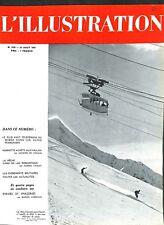 Le plus haut téléphérique du monde Alpes de France Savoie WWII 1941 ILLUSTRATION