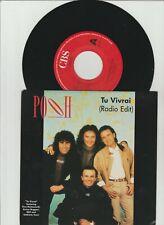 "7"" POOH (Eros Ramazotti, RAF, Umberto Tozzi, Enrico Ruggeri)- TU VIVRAI 1990"