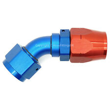 1/2 BSP 45 Degree Swivel to AN-10 Oil Sandwich Plate Mocal Braided Hose Fitting