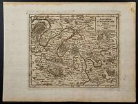 1748 - Carte géographique ancienne de Paris et ses environs - Vaugondy