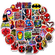 Marvel Superhero 50 Stickers Skateboard Laptop Car Phone Decals Stickerbomb