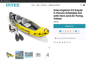 Intex Explorer K2 Kayak  Visit our online website :  www.intex2k.com