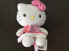 Vintage Hello Kitty polka dot dress flowers plush 8 inches Sanrio