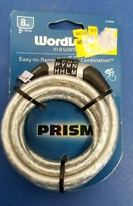 Prism Bike lock Word Combination 5ft x 8mm universal twisted Steel cable NEW