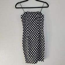 NUDE Black White Polka-dot Dress Size Small NEW