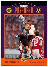 Peter Schmeichel, Denmark #UD3 Postcard From Pasadena '94 (Eng/Ger) Card (C388)
