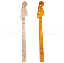 2 Pcs Electric Bass Guitar Necks For 4 String JB Bass Parts Maple Wood 21 Fret