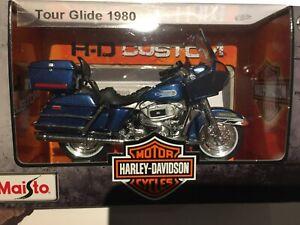 Harley Davidson Tour Glide FLT 1980 Boite Maisto 1:18 Neuf Moto