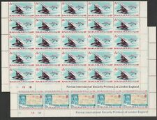 Bahamas 1969 Airmail set in complete sheets of 50 SG 331-332 Mnh.