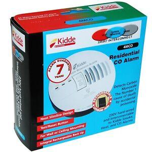 Kidde Fyrnetics Hard Wired Mains Powered 230v CO Carbon Monoxide Alarm - 4MCO