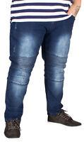 Big Mens D555 Troy Tapered Biker Fit Jeans W46 Regular Vintage Blue B333-51