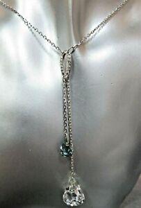 Swarovski 'Luna' Crystal Drop Necklace.  Wedding. Ref xaoD%