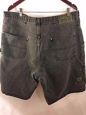 Vintage GUESS Jeans Carpenter Shorts Sz 42 Loose Black Painter Workwear USA