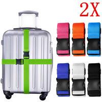 2x Adjustable Travel Luggage Safe Belt Packing Suitcase Baggage Backpack Strap