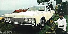 1968 LINCOLN CONTINENTAL Dealer Sales Brochure / Catalog