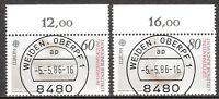 BRD 1986 Mi. Nr. 1278-1279 Oberrand Gestempelt LUXUS!!! (7825)