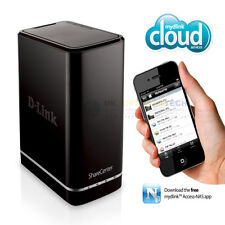 D-LINK SHARECENTER (0TB) 2-Bay NAS BAY CLOUD Enclosure di storage di rete (nero)