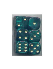 NEW Dice Set of 6 D6 (16mm) - Pearl Green