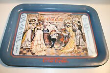 Vintage Collectible 1990 Coca Cola Coke Parlor Women & Children Why Metal Tray