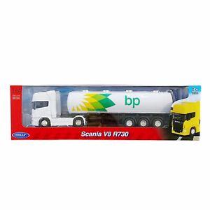 Welly BP Scania V8 R730 Oil Tanker Truck Diecast 1:64 New