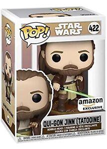Qui-Gon Jinn Tattooine Amazon Exclusive Funko Pop Star Wars PREORDER MAY 15
