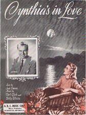 Cynthia's In Love, Jack owens photo, 1942, vintage sheet music