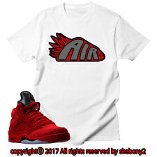 aded565f46b255 NEW T SHIRT Air Jordan 5 Red Suede matching ECO PRINT JD 5-1-