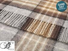 Bronte McKellar Tartan Pure 100 Shetland Wool Blanket Throw Moons UK Made
