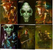 2008 TOPPS INDIANA JONES AND THE KINGDOM OF THE CRYSTAL SKULL FOIL SET 10 CARDS