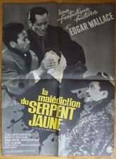 LA MALEDICTION DU SERPENT JAUNE F. Gottlieb 1963 Affiche Originale 60x80 Poster