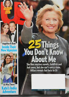 2016 Us Weekly Magazine Hillary Clinton  25 Things About Me