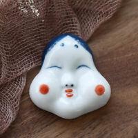 2X Japanese Chopstick Rest Holder Female Head Ceramic Rack Fork Stand Home Decor