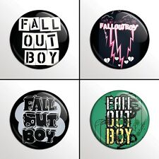 "4-Piece Fall Out Boy  1"" Band Pinback Buttons / Pins / Badges Set"