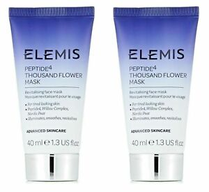 2x Elemis Peptide4 Thousand Flower Mask 40ml - New & Sealed (80ml Total)